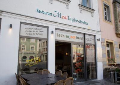 Außenseite des Restaurants