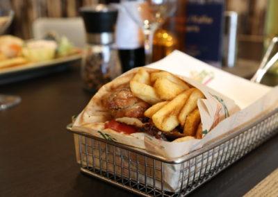 Fleisch mit Kartoffeln